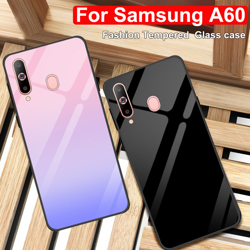 For <font><b>Samsung</b></font> <font><b>galaxy</b></font> <font><b>A60</b></font> case A606F <font><b>SM</b></font>-<font><b>A60</b></font> tempered glass phone cover For <font><b>Samsung</b></font> <font><b>A60</b></font> 2019 casing <font><b>A6060</b></font> cases Gradient glass shell image