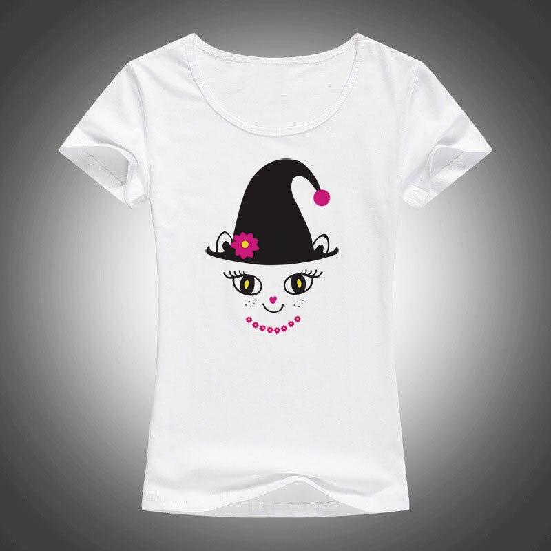 Kawaii Cat T Shirt Women lovely Tops Camiseta Feminina O-neck - Ropa de mujer