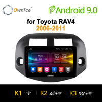 Ownice K1 K2 K3 Octa 8 Core 2 Din Android 9.0 Car 2 din Radio player GPS support DVR 4G for Toyota RAV4 2007 2008 2009 2010 2011