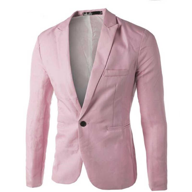 8 colores 2018 otoño traje de Blazer de hombre traje de Blazer de negocios Slim Fit chaquetas abrigo de moda Blanco/negro /gris M-3XL