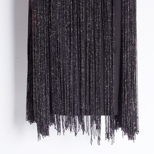 Image 5 - Grande Gatsby Ombre Catena di Metallo Halter Nero 1920s Fringe Flapper Charleston Dress Robe Sexy Del Partito Aderente Club Dress Vestido
