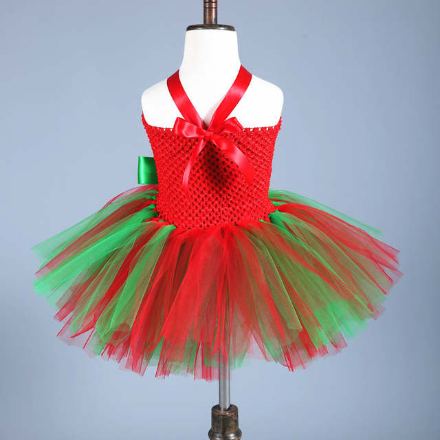 placeholder Baby Kids Christmas Dress for Girls Clothes Party Ball Gown  Tutu Dress Children Red Green Cosplay c908a84ca7b7