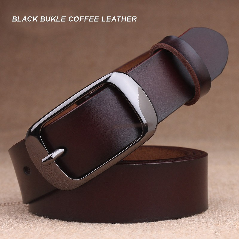 BLACK BUKLE COFFEE LEATHER