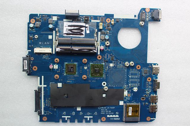 Para asus placa madre del ordenador portátil ajuste para x53u k53u pbl60 la-7322p ddr3 integrado con amd cpu mainboard