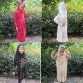 ( 12 peças/lote ) Abaya Jilbab Burka Hijab para crianças novo meninas Maxi crianças Abaya islâmico muçulmano completo Top MA100