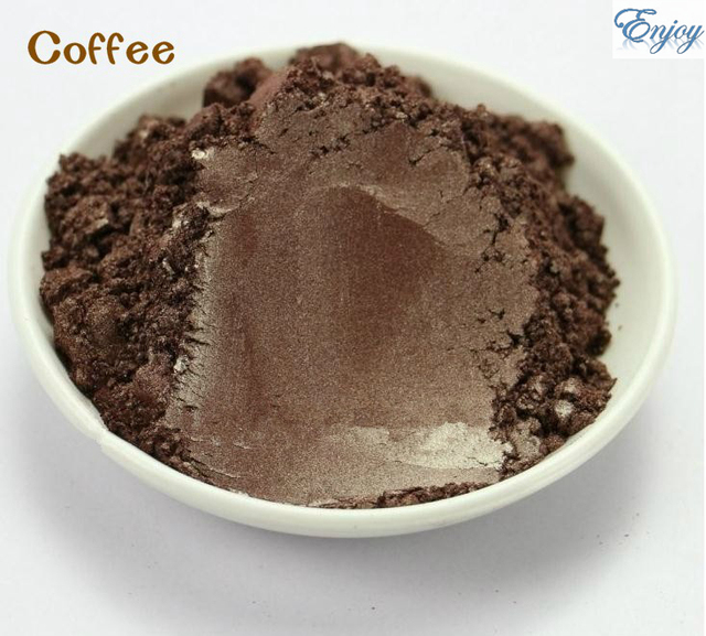 Coffee Color Mica Pearl powder for eye shadow Cosmetic Material Nail Polish Paint Printing Making 500g/pack.