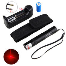 Mini Laser Flashlight Pointer Red Pen Light Beam Presentation Powerpoint Presenter with Battery and Charger
