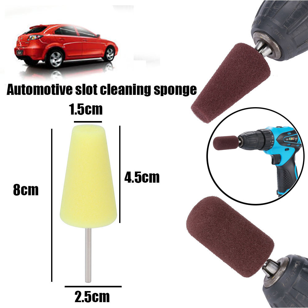 Buffing Polishing Wheel Car Polish Buffing Shank Polishing Sponge Cone Metal Foam Pad Car Maintenance Automobile Cleaning Tool #