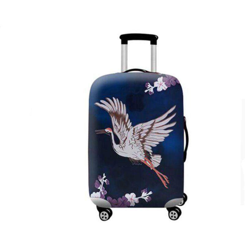 Fashion stretch cloth luggage dust cover printing waterproof suitable for 18-32 inch trolley case dust cover travel accessories