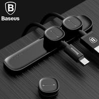 Baseus Magnetic TUP Cable Clip Desktop Tidy Organiser USB Charger Line Holder Home Car Charging Cable