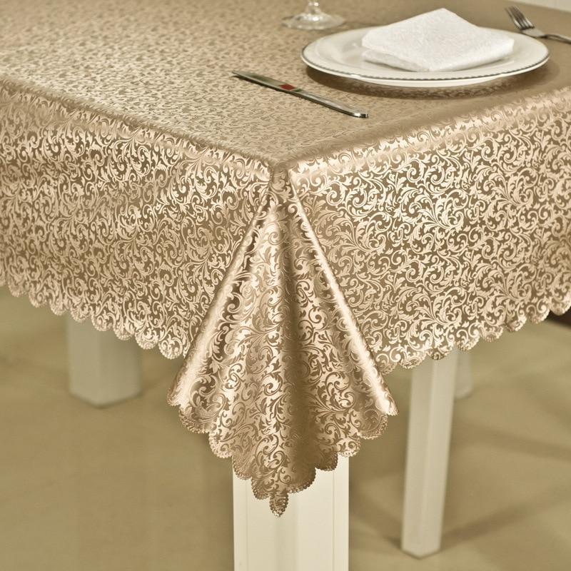 Buy custom tablecloth europe bronzing waterproof no clean heat resistant - Heat resistant table cloth ...