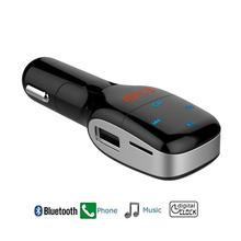 Wireless In-Car Bluetooth FM Transmitter Radio Adapter Car Kit with USB Car Charger  Micro SD/TF Card Music Hands-Free Calling
