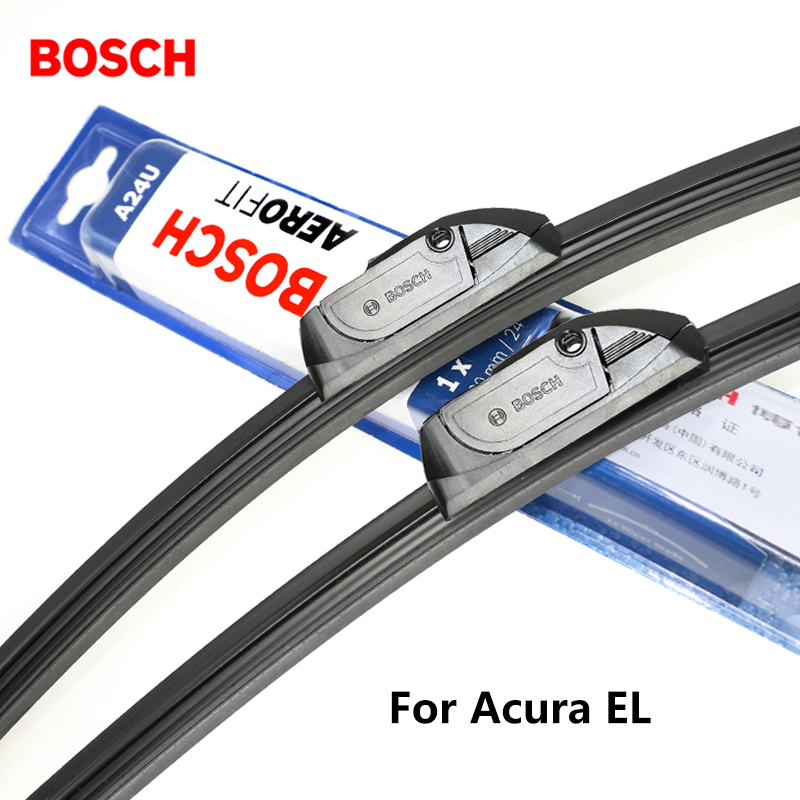 2pieces/set BOSCH Wiper Blades for Acura EL 21&19 Fit Hook Arms 2001 2002 2003 2004 2005 ...