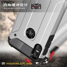 sFor Case Motorola One Cover Armor Silicone Hard Plastic For P30 Play Moto Shell Fundas