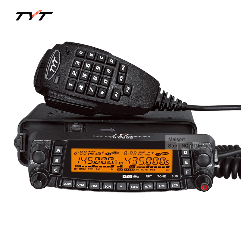 Brand TYT TH9800 Car Mobile Radio Communication HF Transceiver Automotive Ham Radio Station Two Way Radio