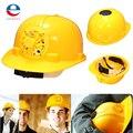 Novo Design Regulável 0.3 W PE Ventile Hat Cap Capacete de segurança Capacete de Segurança de Segurança Movido A Energia Solar com Ventilador De Refrigeração Legal Amarelo
