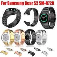 Edelstahl Uhr band mit Stecker Adapter für Samsung Getriebe S2 RM-720 Soprt Strap für Samsung Getriebe S2 SM-R720 Band