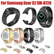 Correa de acero inoxidable con conector adaptador para samsung gear s2 rm-720, para samsung gear s2 sm-r720 banda smgs2m3lc