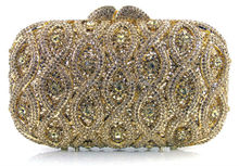 Evening Bags Classic Rhinestone Day Clutches For Lady Recommend for Everyone Gold/Silver/Black Crystal Bag EB1