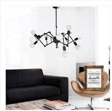 Envío libre breve Moderno Lámparas de luz araña de hierro corsé negro blanco rojo color foyer lámparas de iluminación