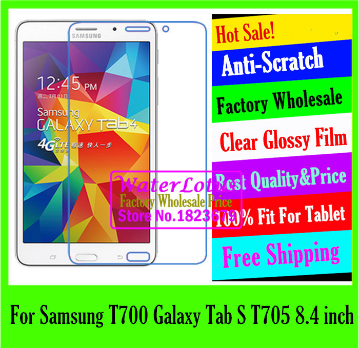 Clear Glossy Computer notebook protective LCD film to plate laptop screen protector For Samsung T700 Galaxy Tab S T705 8.4 inch