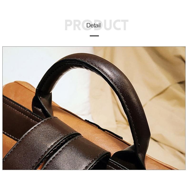 HTB1oJMdbiHrK1Rjy0Flq6AsaFXaH Fashion Women High Quality Leather Backpack Multifunction Leatherett Backpack For Female Big Bookbag Travel Bag Sac A Dos XA279H