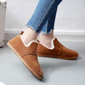 Image 4 - Зимние женские ботинки SWYIVY, женские плюшевые бархатные меховые теплые зимние ботинки, женские теплые короткие зимние ботинки