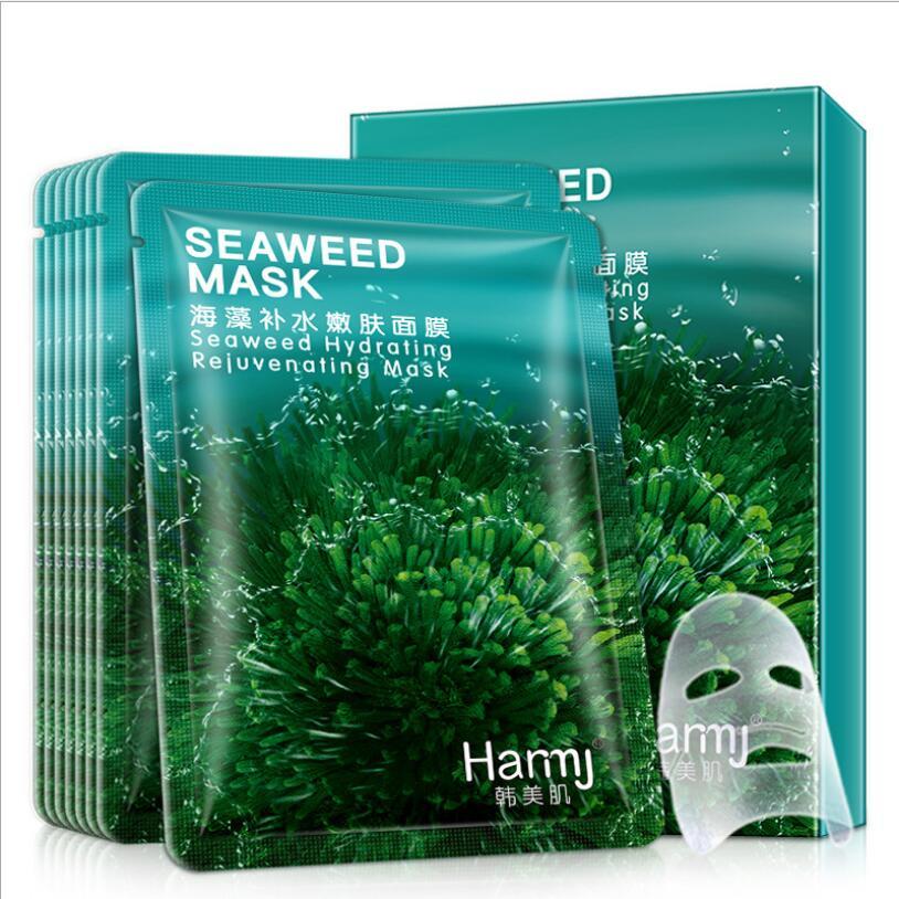 10pcs/hot Sale Korean Beauty Seaweed Hydrating Mask Moisturizing Oil Control Thailand Imported Silk Mask Beauty Skin Care