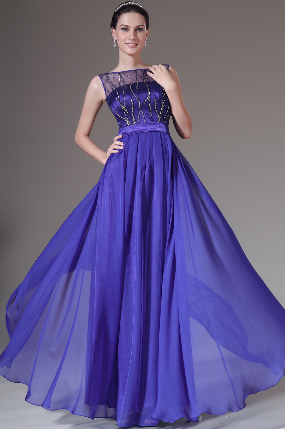 3.25 Sale Royal Blue Simple Elegant Evening Gown Gala Evening ...