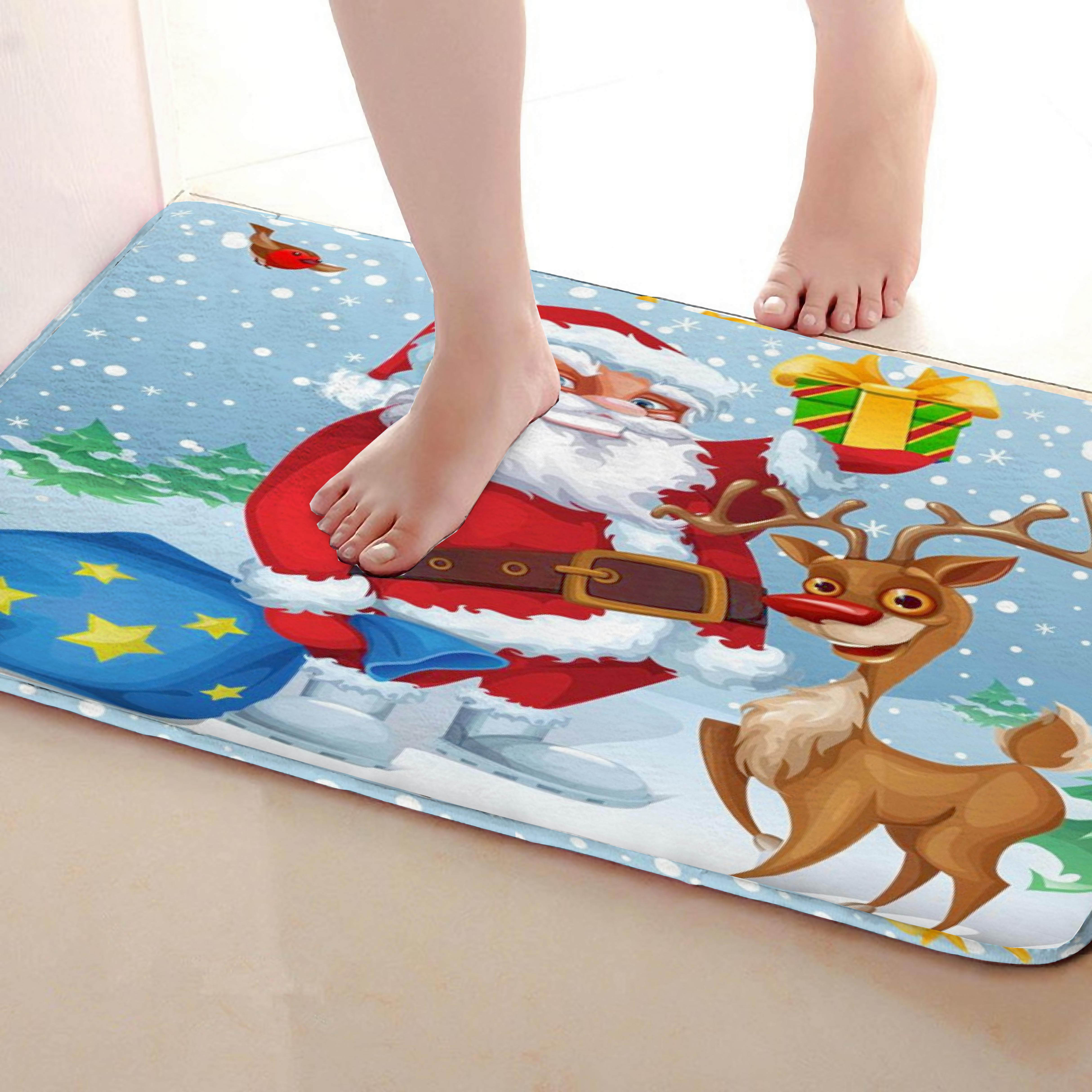 Christmas Style Outdoor Mats,Funny Anti Skid Bath Mat, Doormats,Door Entrance Mats