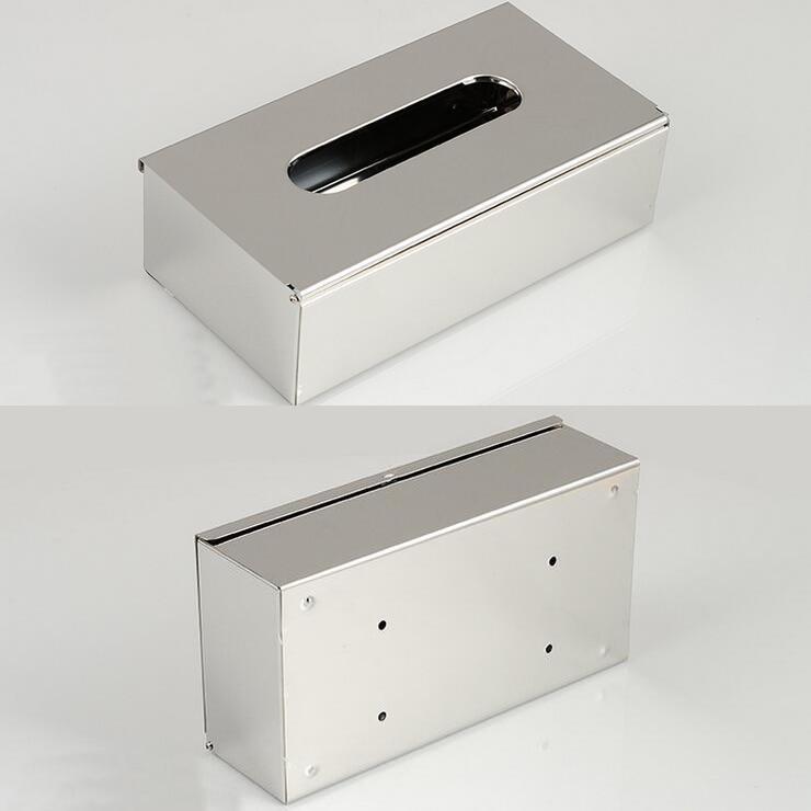 Vaak Rvs badkamer tissue doos houder vierkante pull type papier houder @PD48