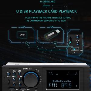 Image 3 - SWM M2 Dàn Âm Thanh Xe Hơi MP3 Nghe Nhạc FM Đài Phát Thanh Âm Nhạc Bluetooth 4.0 TF AUX Sạc 2 CỔNG USB sạc Trên Ô Tô cho iOS/Android Đầu Đơn Vị