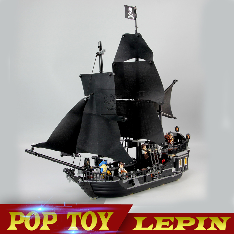 lepin 16006 804pcs building bricks Pirates of the Caribbean the Black Pearl Ship model Toys Compatible legoed 1513pcs pirates of the caribbean black pearl general dark ship 1313 model building blocks children boy toys compatible with lego