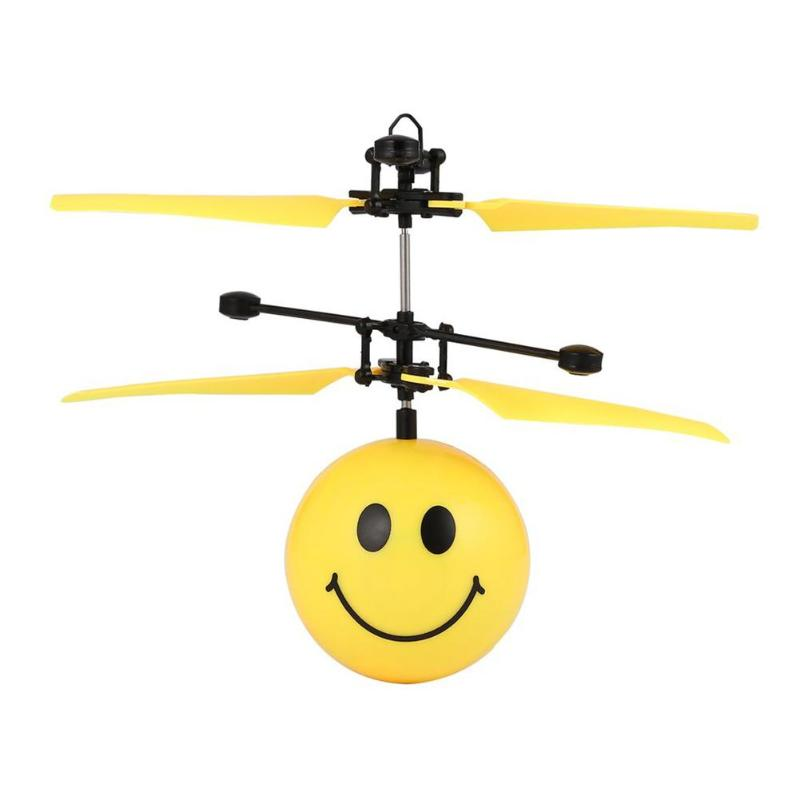 Happy Face Remote Control Aircraft Toy Flying Ball for Remote Sensing Flying Ball with Magic Smiling Face Office Gift