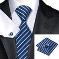 C-337 VIOLA el Lazos Para Hombre 2016 Accesorios de Moda de La Raya Azul y Steelblue Clásica Corbata de Seda Corbatas De Punto Casual de Negocios