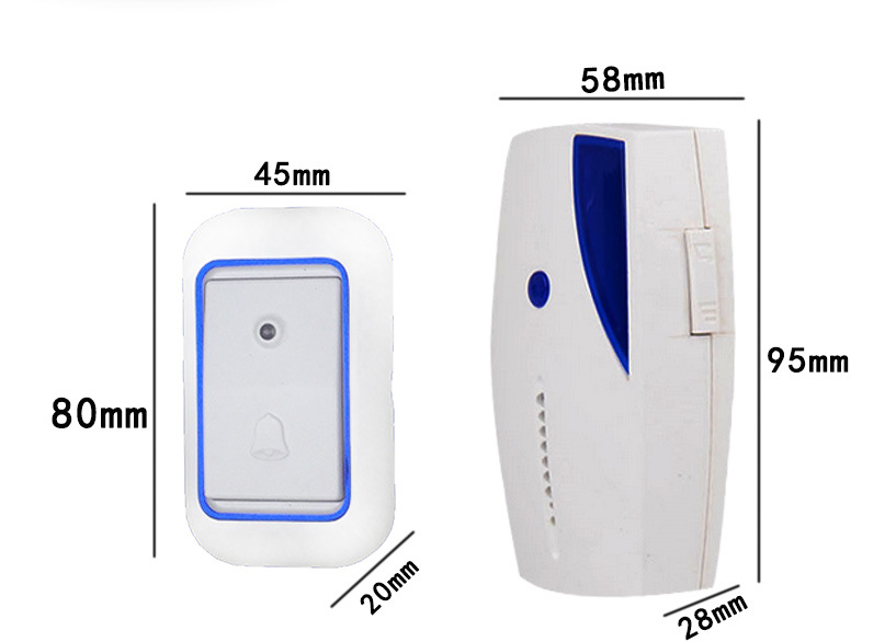 Waterproof AC 315MHZ LED Wireless 100m Chime Door Bell Doorbell Wireles Remote control 35 Chord bell Home Old Man Pager ks v2 welcom chime bell sensor