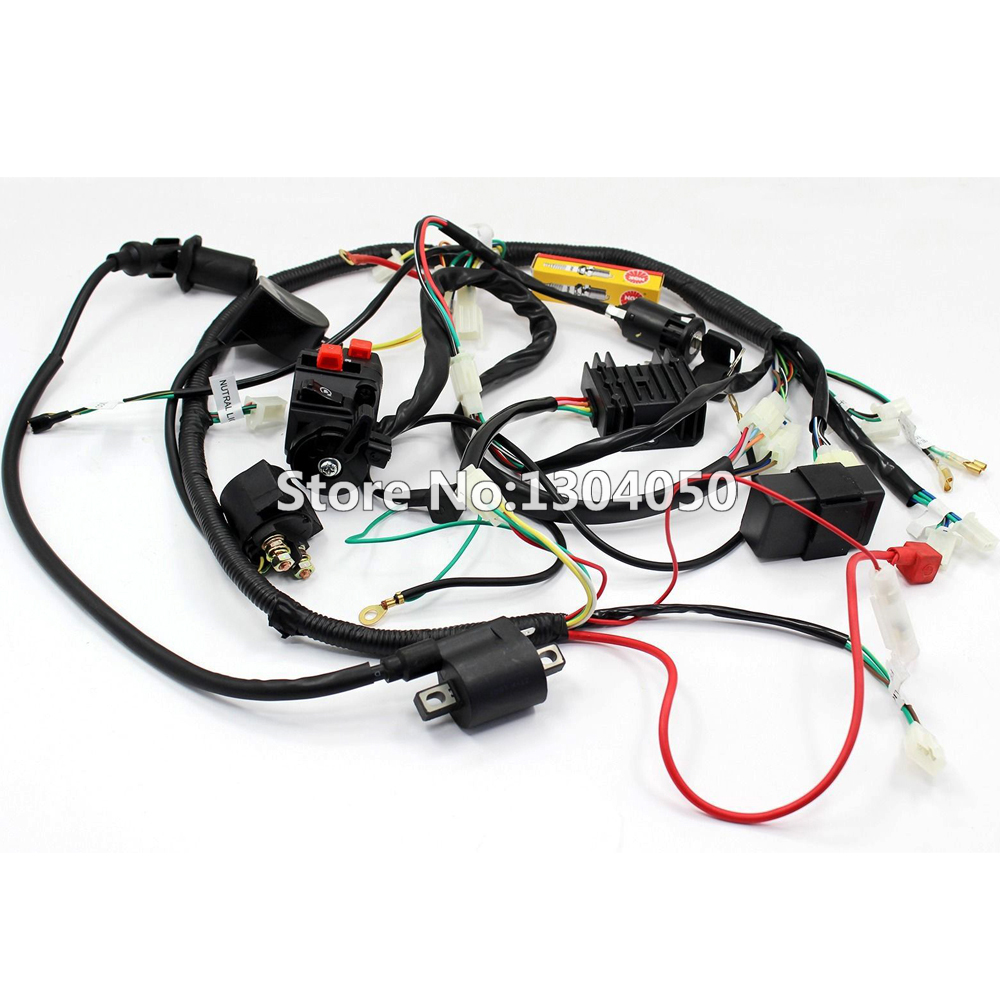 online buy whole buggy gokart from buggy gokart full electrics wiring harness cdi ignition coil key spark plug recitifier solenoid 150 200 250cc gy6