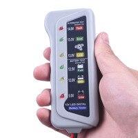 12 V Bateria de Carro Auto Testador Alternador com 6 Luzes LED de Teste Detector de Exibição Ferramenta de Teste de Bateria de Carro Da Motocicleta Universal