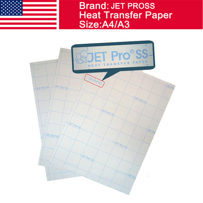 USA JET PROSS light inkjet heat press paper trasnfer paper A4