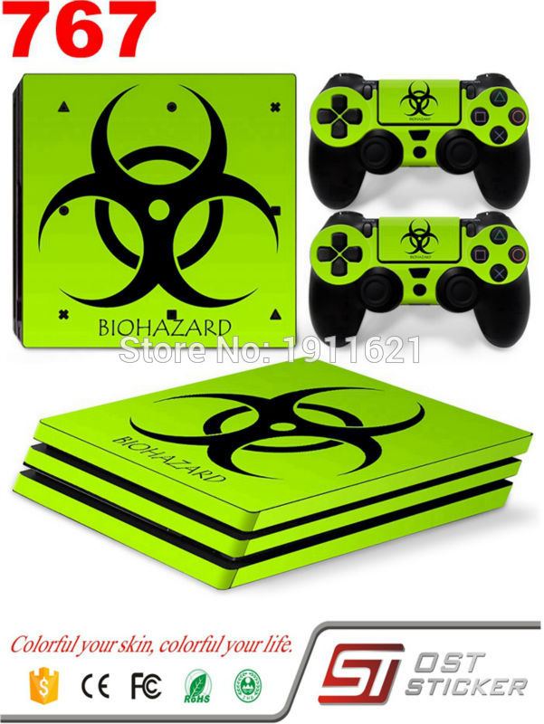 OSTSTICKER High Quality Protector Skin Sticker For Playstation 4 Pro PS4 Pro Console + 2Pcs Stickers For PS4 Pro