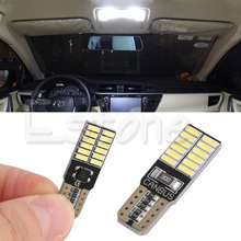 1PC White T10 24 SMD 4014 LED Side Light Bulbs Canbus Error Free 194 W5W free shipping