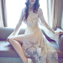 Royal Style Maternity Photography Props Long White Lace Dress For Photo Shoot Clothes for Pregnant Women