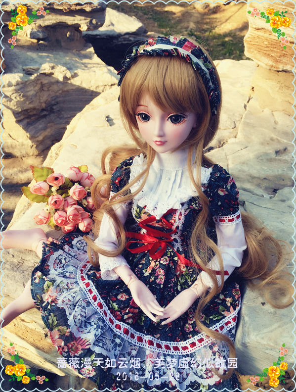 pre-sale Private custom 60cm joint doll cosplay include dress and brown wigs random color shoes girls gift аксессуары для косплея random beauty cosplay