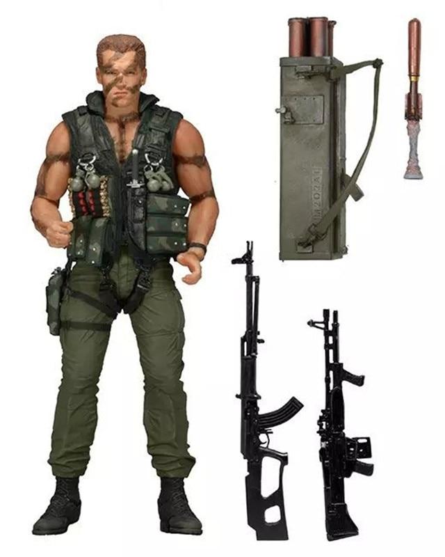 NECA Commando 30th John Matrix Arnold Schwarzenegger PVC Action Figure Collectible Model Toy 7 18cm Free Shipping KB0448 neca pacific rim jaeger coyote tango pvc action figure collectible model toy 7 5 19cm free shipping