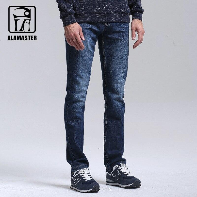 A LA MASTER Jeans Light Wash Jeans Mens Blue Cotton Denim Straight Fit Classic Stylish Casual Pants Male Trousers women girls casual vintage wash straight leg denim overall suspender jean trousers pants dark blue