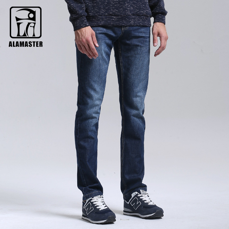 A LA MASTER Jeans Light Wash Jeans Mens Blue Cotton Denim Straight Fit Classic Stylish Casual Pants Male Trousers 6147052