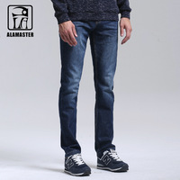 A LA MASTER Jeans Light Wash Jeans Mens Blue Cotton Denim Straight Fit Classic Stylish Casual