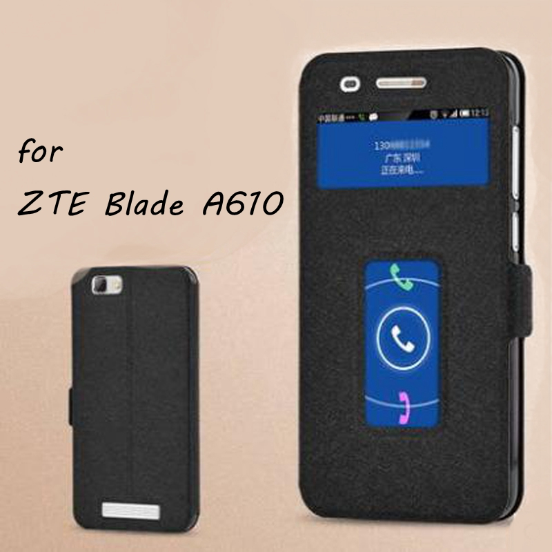 Luxury PU Leather Flip Open Cover Case for ZTE Blade A610