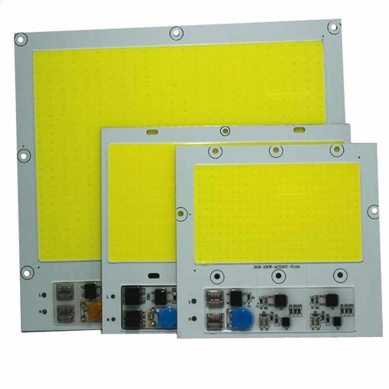 1PCS COB LED 100W 150w 200w ac220V high power Floodlight Bead DOB Chip anti Lightning 4KV pure white warm white free shipping
