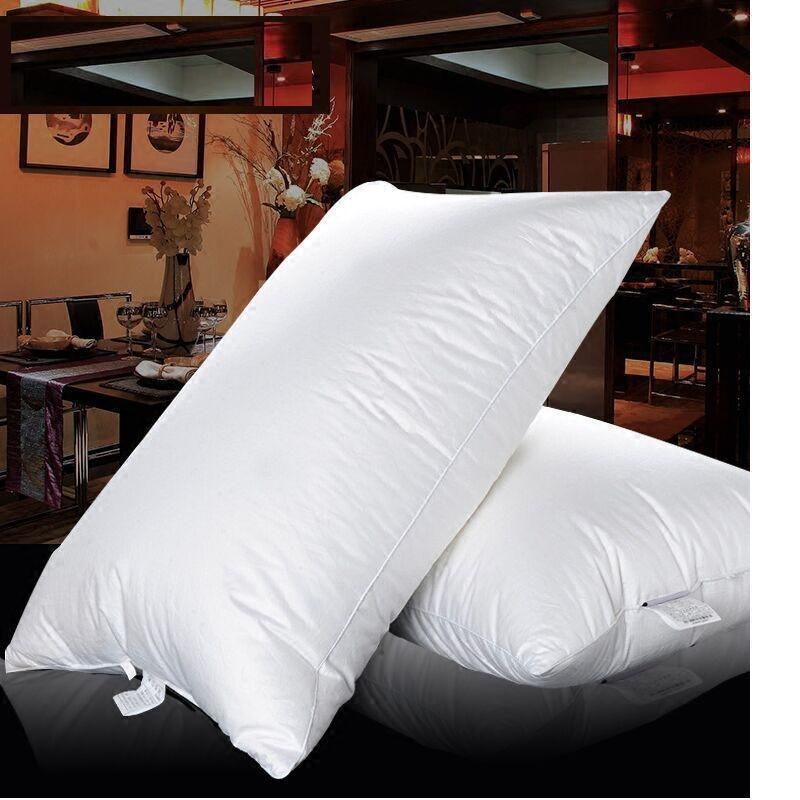 Goose Down Pillow Medium Firm 100 Cotton Cover 40 Oz
